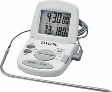 NEW TAYLOR 1470N DIGITAL THERMOMETER & TIMER WITH MEAT PROBE 1669373