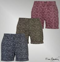 Mens Pierre Cardin Cotton Pockets Zip Aztec Shorts Trousers Sizes from S to XXL