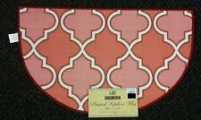 """PRINTED KITCHEN RUG (non skid latex back) (17"""" x 28""""), PINK pattern, slice by BH"""