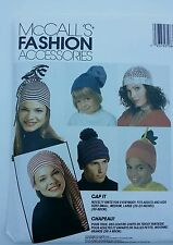 McCall's Fashion Accessories Novelity Knit Caps Patterns