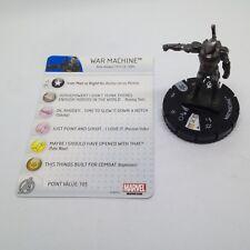 Heroclix Captain America: Civil War set War Machine #004 Gravity Feed fig w/card
