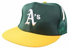 NEW VTG 90s OAKLAND ATHLETICS A's Snapback CAP Mesh Trucker HAT Deadstock NWOT !