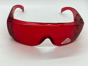 Safety Glasses UV Protective with Fixed Leg Color: Red 1pc/pk