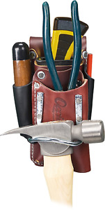 Tool Bag Leather Holder Occidental Pouch Hammer Tape Pliers Tools Knife Pockets