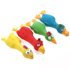 "4PCS  Squeaky Latex Toys Colorful Duck 7"" Fetch Dog Toy Puppy Chew Play Chiwava"