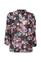 Sold Out! DECJUBA Abby High Neck Blouse Top, Floral Print, BNWOT, Sz L, RRP$100