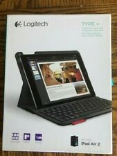 Logitech Type+ Case with Integrated Keyboard for iPad Air 2 - Black - NEW