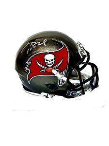 Tom Brady Buccaneers Autographed Riddell Speed Mini Helmet w/ Fanatics COA