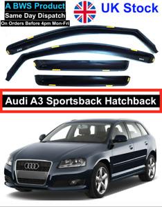Audi A3 04-12 Sportsback Hatchback Wind Deflectors 4pc Premium Quality UK Stock