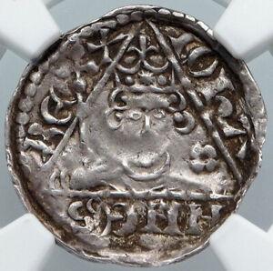 1207-11 IRELAND IRISH UK BRITISH King John I DUBLIN Silver Penny Coin NGC i88873