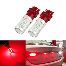 2PC* Car Tail Light Stop Brake Lamps BAY15D 3157 Red LED 5630 33SMD Bulbs Red UK