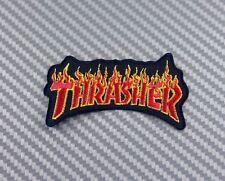 Embroidered Patch Iron Sew  Logo THRASHER skateboard magazine sport extream vans