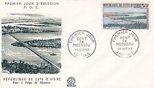ENVELOPPE  PREMIER JOUR - COTE D'IVOIRE - 1963.