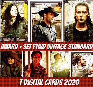 Topps Card Trader Ftwd Fear The Walking Dead Award + Set (1+6) Vintage 2020