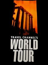 Travel Channel WORLD TOUR Discovery.com Adventure Knowledge Adult T-shirt M