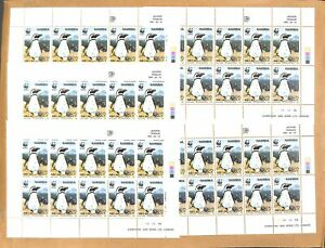 [OPG646] Namibia 1997 Penguin WWF lot of 5x 4 sheets VF MNH