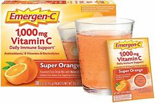 Emergen-C Super Orange 1000 Mg Vitamin C Immune 30 Ct Exp 11/21 Zinc Emergency C