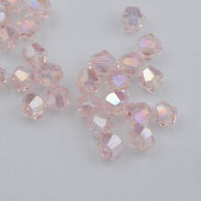 Fashion 1000pcs pink AB Glass Crystal 4mm #5301 Bicone Beads loose beads @1