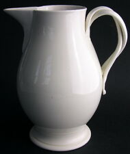 """Wedgwood Only 18th-Century Creamware 7"""" Tall Jug Pitcher Applied Strap Handles"""