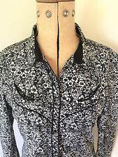 Ladies Levi Strauss Modern Floral Western Shirt Size M