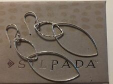 Earrings W3491 New Lightweight Silpada Sterling Silver Interlocking Link