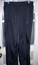 "Adidas Waterproof Medium Black Lightweight Poly Rain Over Pants 32-35"" by 32"""
