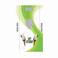 ice cream van machine sticker,greenswirl design van one