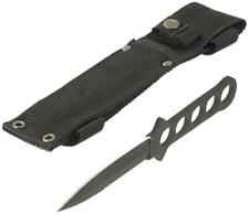 Black Hunting Camping Dive Diving Knife Stainless Steel Cordura Sheath 22cm