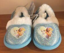 Brand New Disney Frozen Baby Infant Toddler Slip-On Fuzzy Slippers size S 5-6