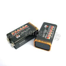 2 piezas 9v batería alcalina uso individual 6f22 6lr61 BLOQUE NUEVO