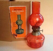 New old stock Hong Kong orange kerosene lamp no 924 Decorative with box