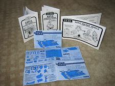 STAR WARS VINTAGE REPLACEMENT INSTRUCTION SHEET  - MANY TO CHOOSE FROM