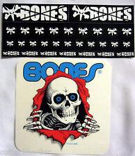 Powell Peralta Skateboards Big Clear Vato Rat Bones Ripper Skull 30 Stickers NEW