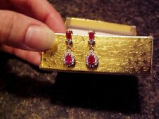 NIB EARRINGS 1.62CTW DIAMONDS AND GENUINE RUBIES - BEAUTIFUL - GREAT PRICE!