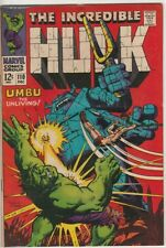 Incredible Hulk #110 ( Vf-, 7.5 ) 1968 First appearance and death of Umbu