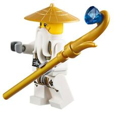 NEW LEGO NINJAGO SENSEI WU MINIFIG white figure 70738 70734 minifigure
