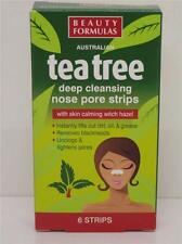 ** 2 X  BEAUTY FORMULAS TEA TREE 6 STRIPS DEEP CLEANSING NOSE PORE STRIPS NEW **