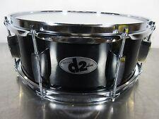 "Ddrum D2 Snare Drum - 14 X 5.5"" - Black w/ Chrome Hardware - 8 Lugs - Basswood"
