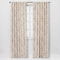 "Charade Floral Light Filtering Curtain Panel Pink - 84"" x 54"""