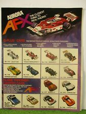 ORIGINAL AURORA MoDEL MoToRING G-Plus T Jet Slot Car Race Track Hobby Shop Flyer