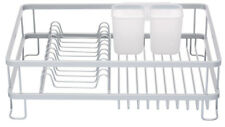 MasterClass Deluxe Large Anti Rust Dish Plate & Cutlery Drainer Draining Board