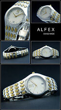 Alfex Ladies Watch of Swiss Made Complete Stainless Steel Bi-Colour Elegant &