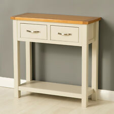 Roseland Furniture Mullion Painted Hall Table With 2 Drawers Wood Stone Grey