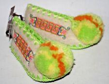 Traditional Greek Wool Slippers Size 3 Pom Pom MINAS Baby Decor Shoes Newborn