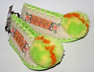 Traditional Greek Wool Slippers Size 3 Pom Pom MINAS Baby Decor Shoes Newborn
