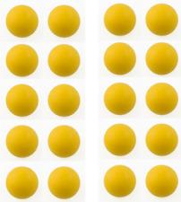20 balles jaunes de COMPÉTITION babyfoot démarquées