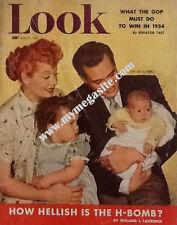 LUCILLE BALL - LOOK MAGAZINE - APRIL 21, 1953 (LUCILLE BALL, DESI ARNAZ & FAMILY