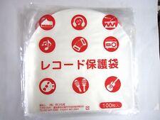 "TAGUCHI 100pcs Stat Disc File Plastic Inner Sleeves 12"" Record LP Japan Import"