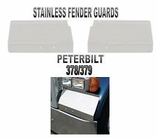 Stainless Steel Fender Shield fits Peterbilt 378/379 (1986+ or Newer) PAIR