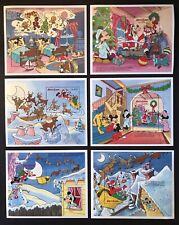 SIERRA LEONE DISNEY THE NIGHT BEFORE CHRISTMAS STAMPS S/S SET OF 6 1990 MNH